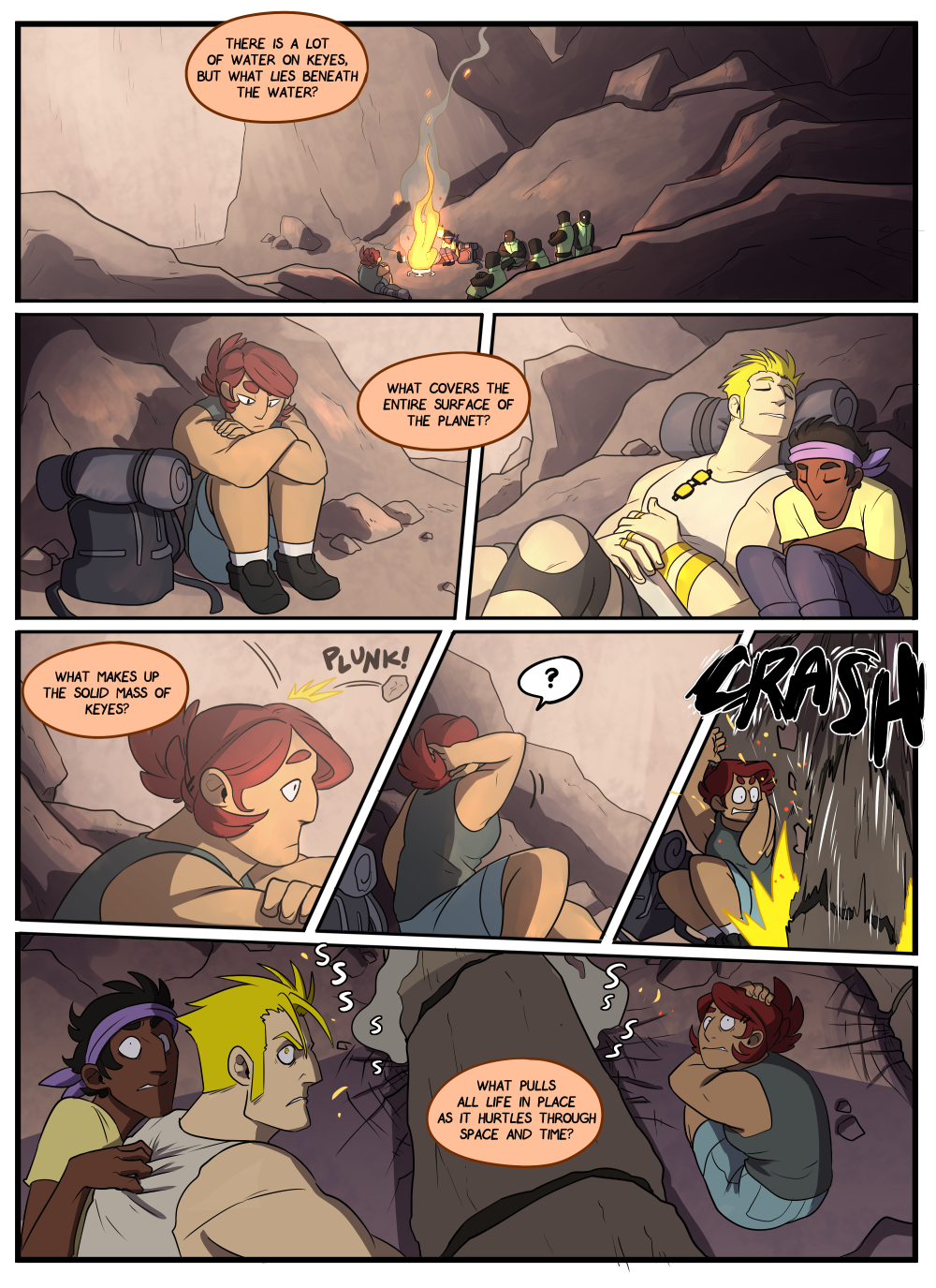 What a nice scene, just a couple of pals camping in a spooky cave togethe– oh. Hm. Hmmmmm.