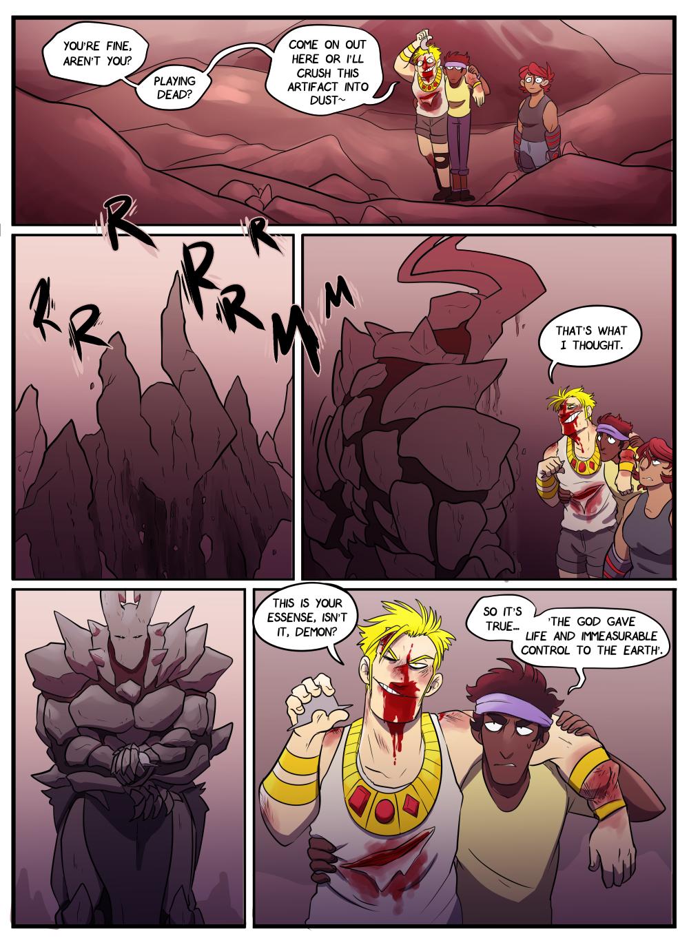 It's fine! He's fine. Rock monster is fine. It's fine. We're all fine.
