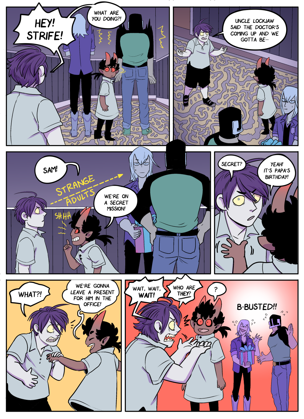 Uh oh… the newcomer is… Older And Less Trusting than the first kid!!?! (Sam = she/her!)